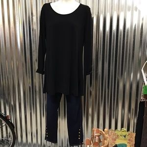 Eileen Fisher Black Silk Tunic